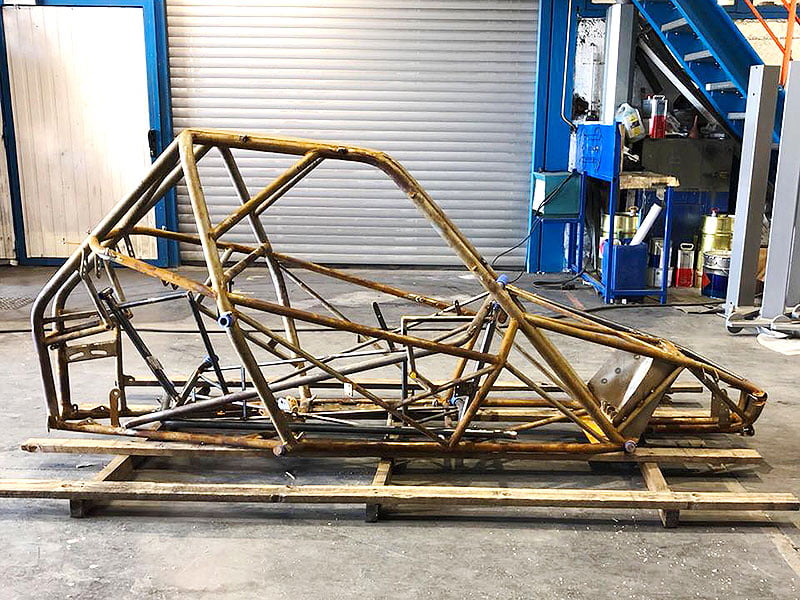 Chassis de kart cross pour thermolaquage