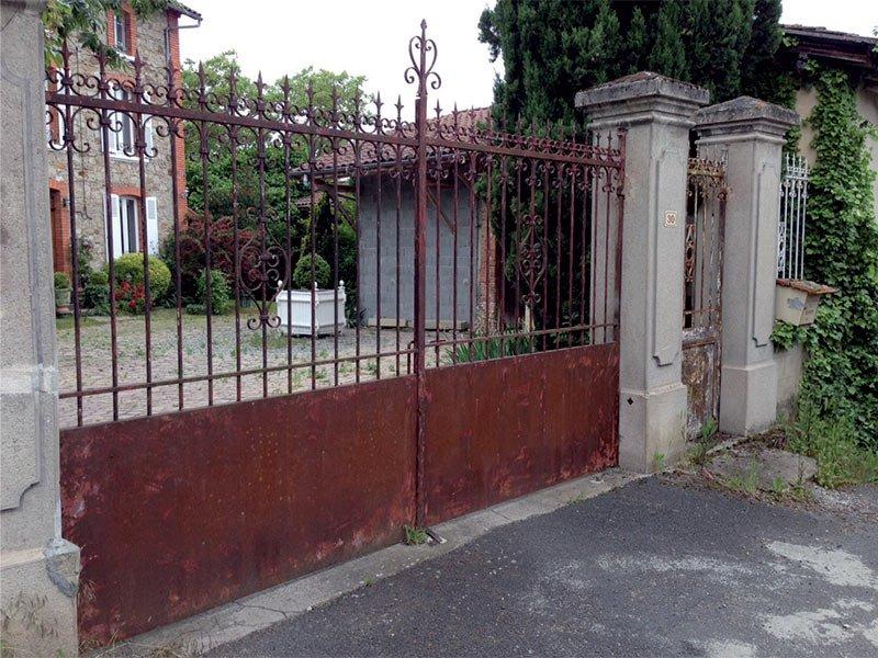 Démontage portail pour rénovation de thermolaquage, Clermont-Fd, 63